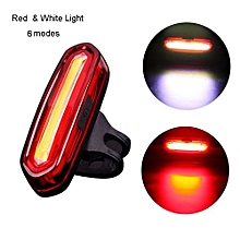 LED USB Rechargeable MTB Safety Warning Bicycle Rear Light Tail Light  Outdoor