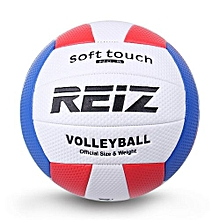 UL Soft Touch PU Leather 5# Volleyball Ball Training Competition White & Red & Blue