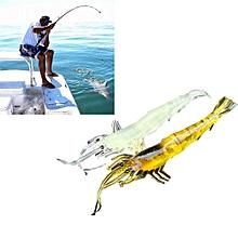 5pcs Shrimp Soft Prawn Lure Hook Tackle Bait Saltwater Bass Fishing Lures