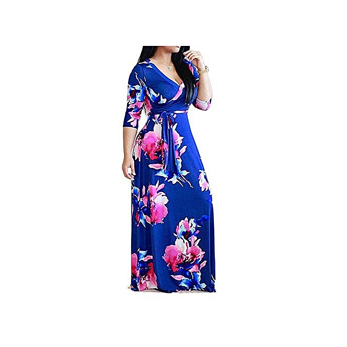 Buy Fashion Plus Size Bohemian Women Dresses Free Shipping Long Lady