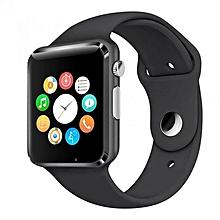 "A1 - 1.54"" - 0.3MP Camera - Smart Watch Phone - Black"
