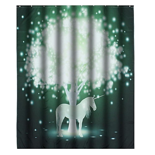 Generic 15x18m Magic Unicorn Bathroom Shower Curtain Waterproof Non Slip Mat W HookThe Best Price