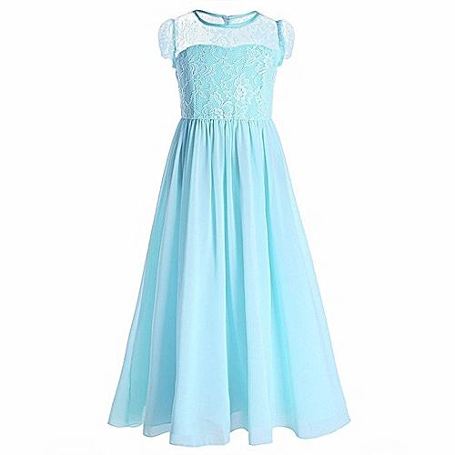2265ad661361 Generic New Girl s Lace Princess Dress Costume Flower Girl s Dress ...