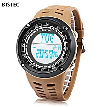 006 Male Digital Watch LED Display Alarm Stopwatch Men Sport Wristwatch-Coffee-Coffee