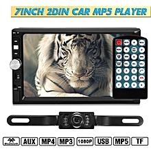 7080B 7inch 2DIN Car MP5 Player Bluetooth Touch Screen Stereo Radio HD+Rear Camera