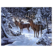 30*25cm Artistic Style Christmas Theme Diamond Embroidery Painting Home Decor