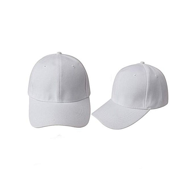 fa4490038fa Generic Baseball Cap Blank Hat Solid Color Adjustable Hat White ...