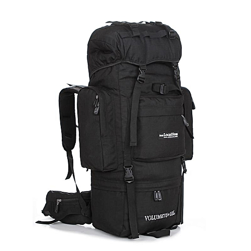 Generic LOCAL LION Big Sport Molle Tactical Bags 85L Outdoor Waterproof  Travel Backpack Military Climbing Black   Best Price  2e444b30fd388