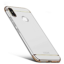 MOFI for Xiaomi Redmi Note 5 Pro Three Stage Splicing Full-body Rugged PC Protective Back Cover Case(Silver)