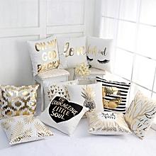 Honana WX-138 Super Soft Love Golden Pillowcases Plush Cotton Linen Home Cushions Pillow Cover