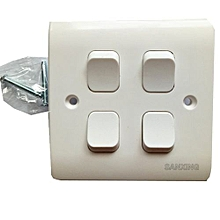 Wall Switch Panel Four Switch Single Control 250V 10A-White