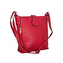 Red Bucket Style Handbag