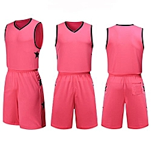 Children Youth Boy And Men's Customized Men's Basketball Team Sport Jersey Uniform-Pink(YW-1723)