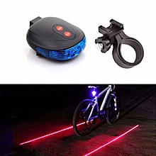 huskspo 2 Laser +5 LED Flashing Lamp Rear Light Cycling Bicycle Bike Tail Safety Blue