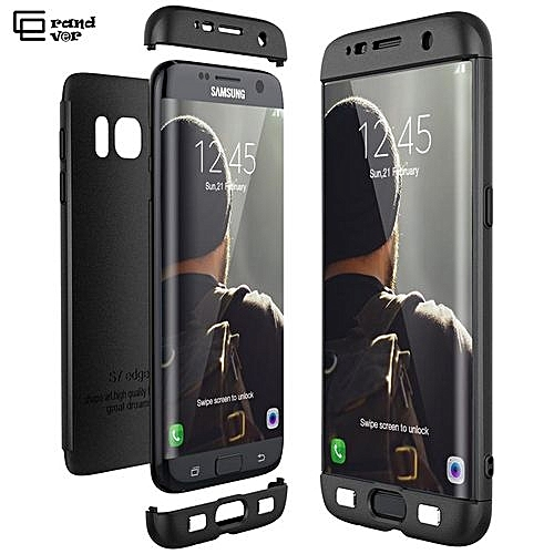 premium selection a46d9 d503c 360 Degree Full Body Protection Phone Case For Samsung Galaxy S7 Edge  Ultra-thin Case Hard Cover Casing