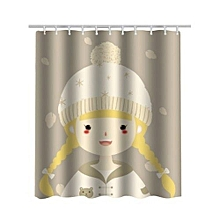 180 X 180cm Mouldproof Waterproof Shower Toilet Curtain Bathroom Partition (DAISY)