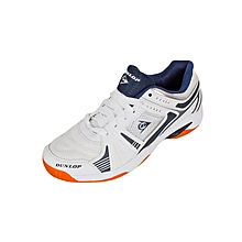 Mens Indoor Squash Shoe - White & Navy