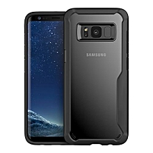 Samsung Galaxy S8 Silicon Transparent Case, PC And TPU Anti-knock Phone Back Cover For Samsung Galaxy S8-black.