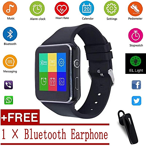 promo code 0e682 8da58 2018 New Bluetooth Smart Watch X6 Smartwatch sport watch For IOS Apple  iPhone Android Phone With Camera FM Support SIM Card HT