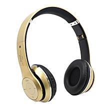 Headphone HandsFree Fashion Bluetooth Headset Bluetooth Sports Wireless Headphones S460 - Gold
