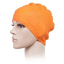 Silica Gel Waterproof Solid Color Non-slip Swimming Cap