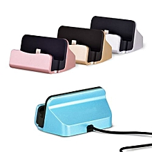 Charger Dock Stand Micro USB Desktop Stand Station Cradle  For IPhone X 8 7 5 SE 6 6S Plus Blue