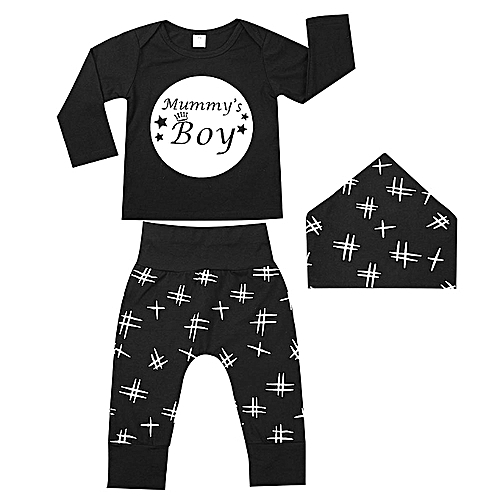 f3b8ad451299f Generic Clothing Sets Cute Tops+Pants+Hat Cotton Polyester Boys Girls  Newborn Suits Infants Gifts Kids   Best Price
