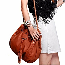 804d55599723 bluerdream-Lady Handbag Shoulder Bag Tote Purse Leather Women Messenger  Hobo Bags BW- Brown