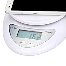 High precision Digital Kitchen Food Scale Electronic Weight Balance 5kg 5000g/1g-White