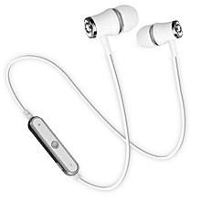 Sports Wireless Bluetooth Earphone Headset Bass Stereo Running Silver