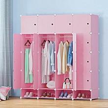 Portable Wardrobes - Spacious 4 Columns -Pink