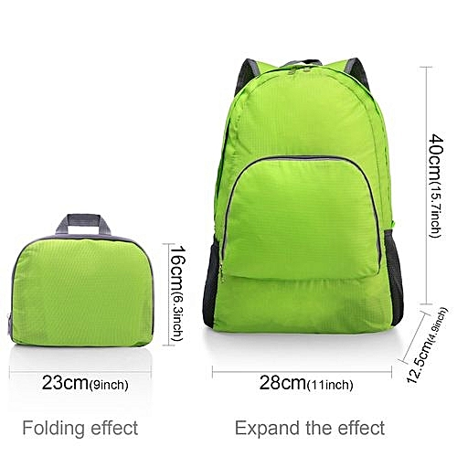 f3050318ee Generic Lightweight Portable Backpack Foldable Durable Travel Hiking  Backpack Daypack - Green