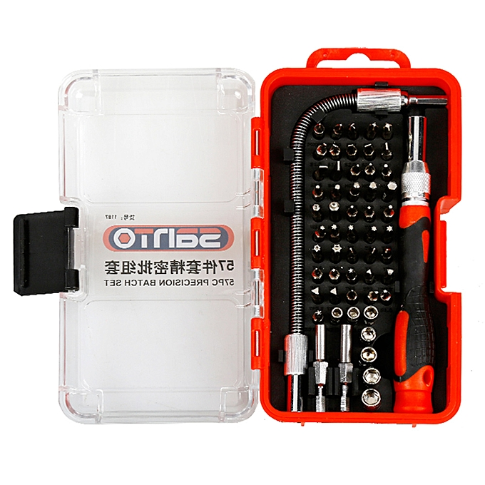 57pcs Screwdriver Set Bits Precision Magnetic Screw-driver Bit Screw Driver Multi-functional DIY