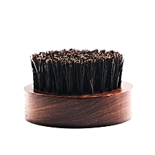 Beard Brush for Men Round Wooden Handle Perfect for Beard Oil & Balm Soft