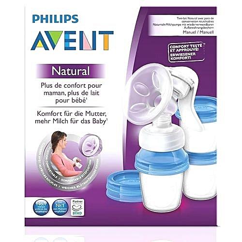 AVENT Manual Breast Pump+ FREE reusable cups