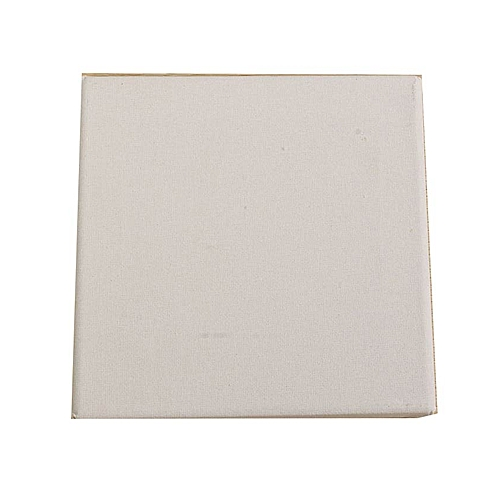 buy universal white blank square canvas board wooden frame for art
