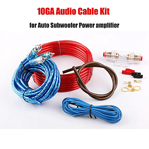 generic 10ga car cable audio kit for auto amplifier/subwoofer wiring power  cable