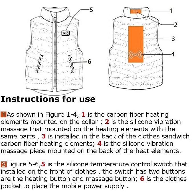 Buy Generic Electric Usb Power Supply Warm Heated Vest Massage