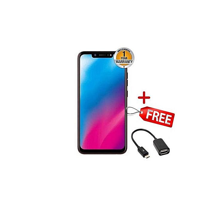 Camon 11 Pro -(6GB+64GB),4G (Dual SIM)-Black +FREE OTG Cable