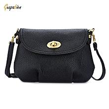Guapabien Ruffle Twist Lock Detachable Strap Shoulder Messenger Mini Bag