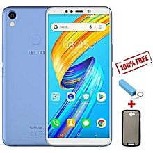 "Spark 2 (KA7O) -6"" Hd + Display, 16GB + 2GB RAM - City Blue + Free Case + Free Power Bank"