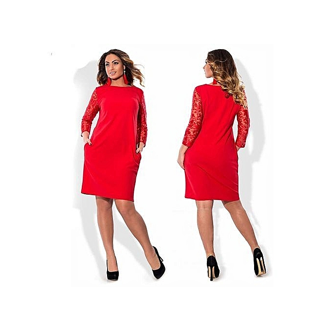 68282967d48 Modern Large Size Dresses For OL Ladies Business Office Dresses Wear To Work  Elegant Pice Hip