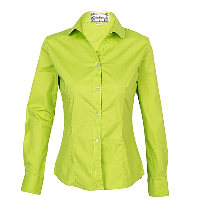 buy cotton express ladies shirt lime green best price jumia kenya
