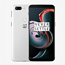 OnePlus 5T Global ROM Sandstone White 6.01 Inch 8GB RAM 128GB ROM Qualcomm Snapdragon 835 Octa Core 4G Smartphone White