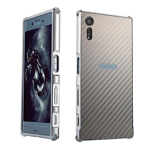 los angeles 726d2 7980c Luxury Metal Case For Sony Xperia XZS G8232 Aluminum Frame & Carbon Fiber  Back Cover Shockproof Shell Capa Mobile Accessories Phone Cases (Silver)
