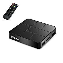 T96 Mars 4K HD Smart TV Box with Remote Controller, Android 7.1.2, S905W Quad-Core 64-Bits ARM Cortex-A53, 1GB+8GB, Support TF Card, HDMI, LAN, AV, WiFi(Black)