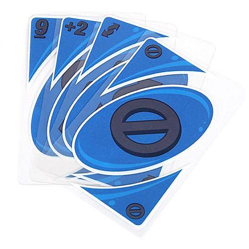 UNO Poker Game Card Set Waterproof PVC Material - Navy Blue