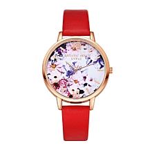 guoaivo LVPAI Watches Women Quartz Wristwatch Clock Ladies Dress Gift Watches -Red