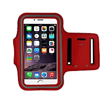 Armband Gym Running Sport Arm Band Cover Case For iphone 6s Plus 5.5Inch RD-Red
