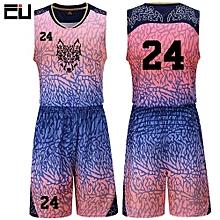 06fe9aaba Children Boy  039 s Customized Team Basketball Sport Jersey Uniform-Pink(YQH